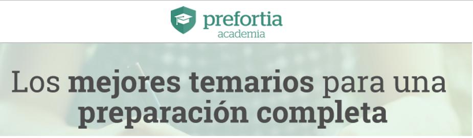 Academia Prefortia los mejores temarios
