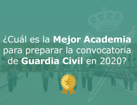 Mejor Academia Online Guardia Civil 2020