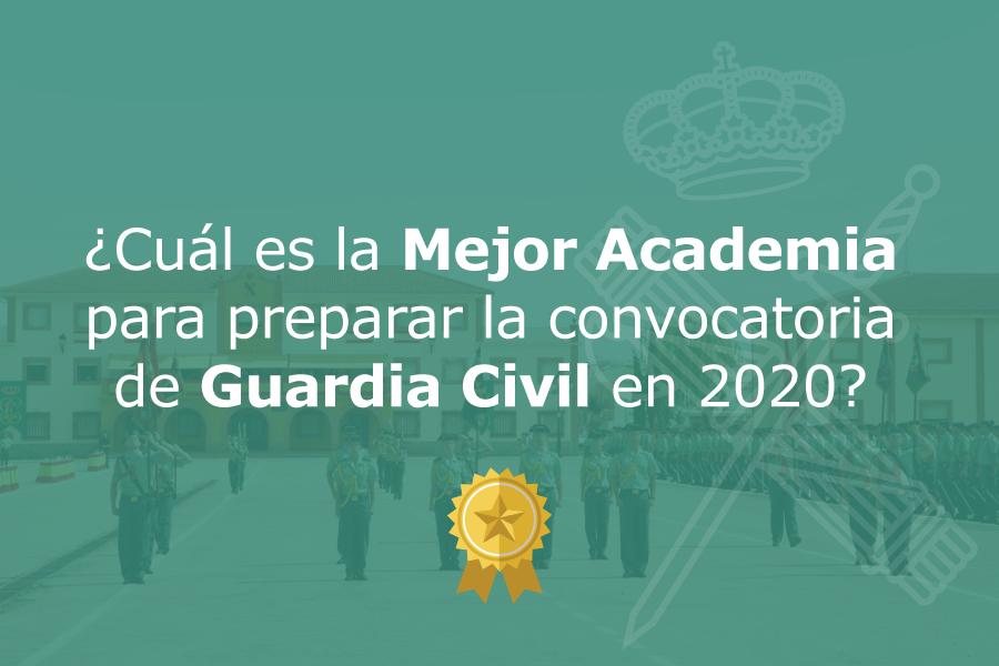 Mejor Academia Online Guardia Civil 2020